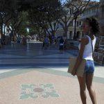 Strolling along El Prado