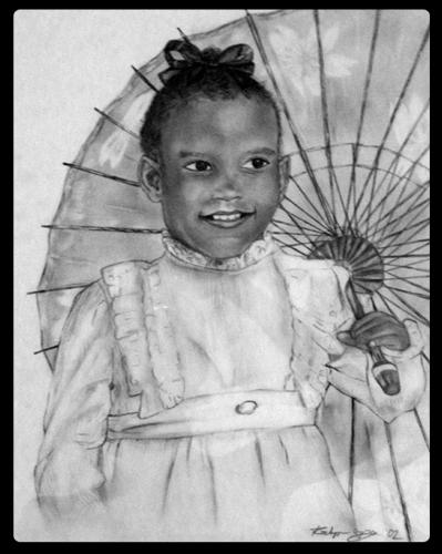 """Little Roz"", pencil. Circa 2003."